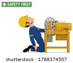 an industrial worker is injured ... | Shutterstock .eps vector #1788374507