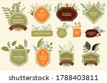 organic and natural food signs. ... | Shutterstock .eps vector #1788403811