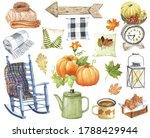 Farmhouse Fall Decor Watercolor ...