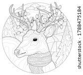 christmas deer with garlands...   Shutterstock .eps vector #1788475184
