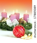 christmas   wreath from fresh... | Shutterstock . vector #17885089