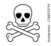 skull crossbones icon vector...   Shutterstock .eps vector #1788523754