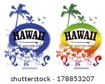 two vintage surf posters | Shutterstock .eps vector #178853207