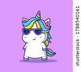 cute cool unicorn wearing... | Shutterstock .eps vector #1788540161