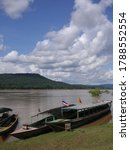 View Of Mekong River And Laos...