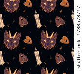 witchcraft seamless pattern...   Shutterstock .eps vector #1788578717