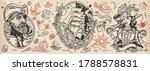 pirates. old school tattoo... | Shutterstock .eps vector #1788578831
