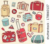 vector collection of vintage... | Shutterstock .eps vector #178860137