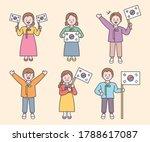 cute characters wearing... | Shutterstock .eps vector #1788617087