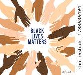 black lives matter banner with... | Shutterstock .eps vector #1788636494