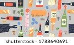 seamless pattern of wine...   Shutterstock .eps vector #1788640691