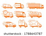 delivery truck icons. isolated... | Shutterstock .eps vector #1788643787