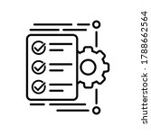 workflow vector icon. operation ... | Shutterstock .eps vector #1788662564