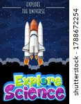 explore science logo with... | Shutterstock .eps vector #1788672254