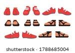 footwear set  male or female...   Shutterstock .eps vector #1788685004