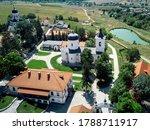 Capriana Monastery With Lake ...