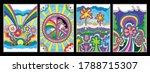 1960s hippie style art posters  ... | Shutterstock .eps vector #1788715307