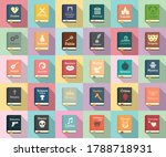 Literary Genres Icons Set. Flat ...