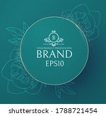 elegant circle banner with hand ... | Shutterstock .eps vector #1788721454