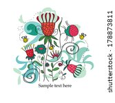 card with flowers.vector   Shutterstock .eps vector #178873811
