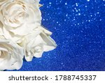 White Rose Out Of Focus On A...