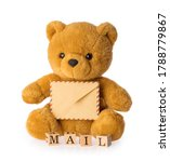 toy bear holding envelope mail... | Shutterstock . vector #1788779867