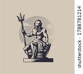 God Poseidon Or Neptune. A Man...