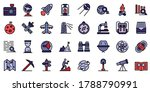 exploration icons set. outline... | Shutterstock .eps vector #1788790991