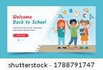 happy kids  back to school... | Shutterstock .eps vector #1788791747