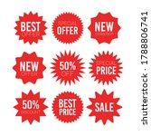 red sale starburst sticker set  ... | Shutterstock .eps vector #1788806741