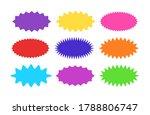 starburst sticker set  ... | Shutterstock .eps vector #1788806747