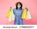 Safe Shopping. African Woman I...