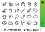 fast food isolated icons set.... | Shutterstock .eps vector #1788810344