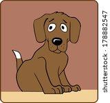 a small puppy dog. | Shutterstock . vector #178882547