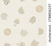 vector baskets in brown gold... | Shutterstock .eps vector #1788836237