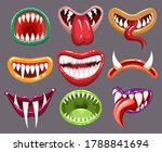 monster mouths set. cartoon... | Shutterstock .eps vector #1788841694
