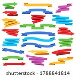 colorful ribbons and pointers.... | Shutterstock .eps vector #1788841814