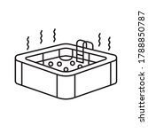 hot jacuzzi tub icon  vector... | Shutterstock .eps vector #1788850787