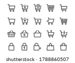 shopping cart line icon.... | Shutterstock .eps vector #1788860507