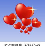 hearts and sparks | Shutterstock . vector #178887101