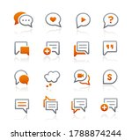 bubble icons    graphite series | Shutterstock .eps vector #1788874244
