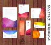 Постер, плакат: Vector corporate identity wave