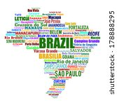 brazil map and words cloud with ... | Shutterstock .eps vector #178888295