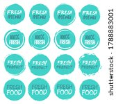 fresh logo collection. set of... | Shutterstock .eps vector #1788883001