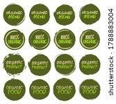 organic logo collection. set of ... | Shutterstock .eps vector #1788883004
