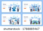 notary service web banner or... | Shutterstock .eps vector #1788885467