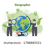 geography concept. studying the ... | Shutterstock .eps vector #1788885521