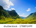 Glencoe Or Glen Coe Mountains...