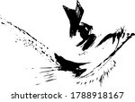 vector abstract japanese ink on ... | Shutterstock .eps vector #1788918167