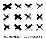 hand drawn set of cross brush...   Shutterstock .eps vector #1788923651